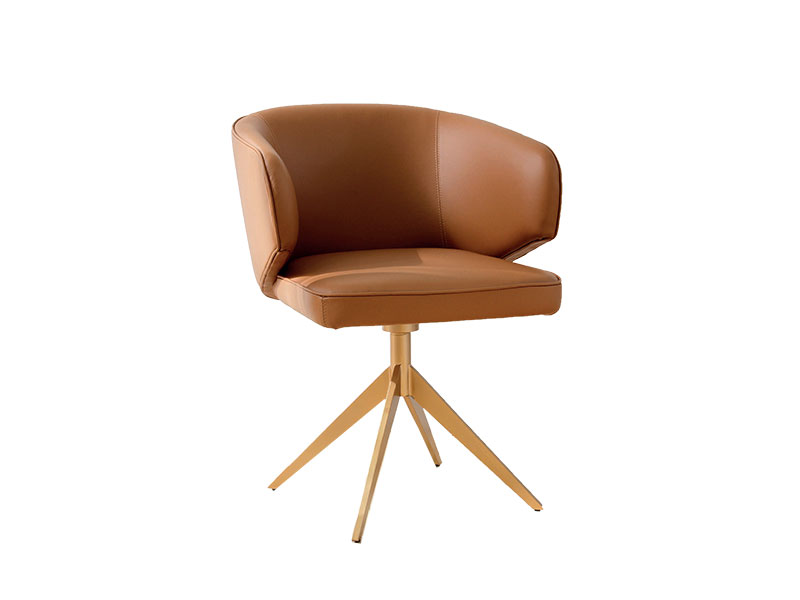Luxury design armchair metal furnishings hand made in italy